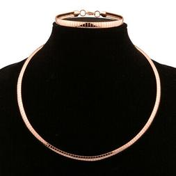 Women/Men's Jewelry Rose Gold Stainless Steel Choker Necklac