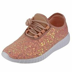 5309c9d5b723 Forever Link Women Remy-18 Glitter Sneakers Fashion Sneakers