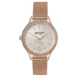 Anne Klein Women's 12/2306SVRG Crystal Accented Rose Gold To