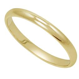 Women's 14K Yellow Gold 2mm Classic Fit Plain Wedding Band