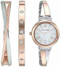Anne Klein Women's AK/2245RTST Swarovski Crystal Rose Gold W
