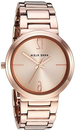 Anne Klein Women's AK/3168RGRG Rose Gold-Tone Bracelet Watch