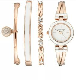 Anne Klein Women's AK/3284LPST Blush Pink and Rose Gold-Tone