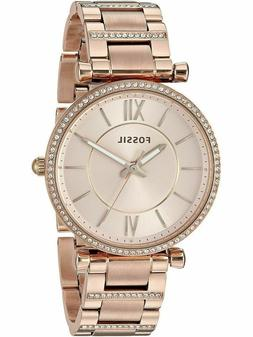 Fossil Women's Carlie Three-Hand Rose-Gold-Tone Stainless St