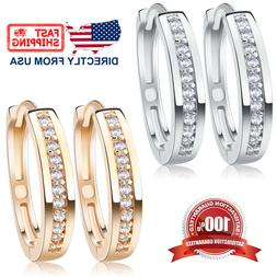 Women's Cubic Zirconia Silver or Rose Gold Color Stainless S