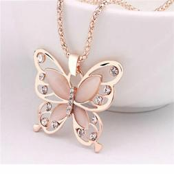 Women's Fashion Jewelry Rose Gold Color Butterfly Girl Penda