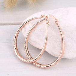 "Women's Fashion Jewelry Rose Gold Plated ""U' Shaped Hoop Ear"