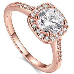 Women's Pretty 18K Rose Gold Plated Wedding Bands TIVANI Col