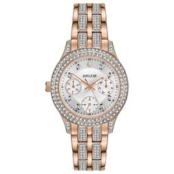 Bulova Women's Quartz Crystal Accents Rose Gold Tone Multidi