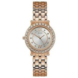 Guess Women's Rose Gold Tone Stainless Steel Blush Quartz Wa