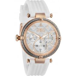Invicta Women's Watch Bolt Rose Gold Case White Dial Rubber