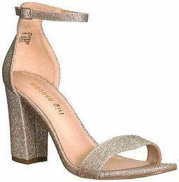 Size 8.5 Rose Gold Madden Girl Womens Beella Fabric Open Toe Ankle Strap