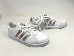 Womens Adidas  Cloudfoam Advantage White/Rose Gold Shoes