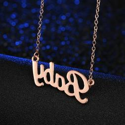 Womens Gold Plated Link Chain BABY Love Pendant Charm Fashio