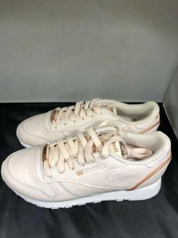 Reebok Womens Pale pink rose gold tennis shoes size 7.5 # BS