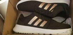 Womens Adidas Sneakers Size 5.5 Black And Rose Gold