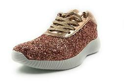 Forever Link Yes-19 Women Light Weight Glitter Lace UP Fashi